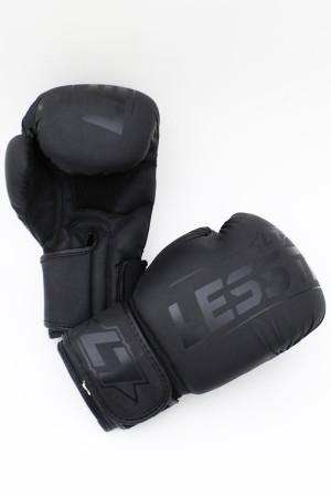 Less Talk Athletics Boxing Gloves Vegan Black