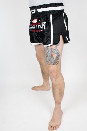 Less Talk Shorts Muay Thai Black White