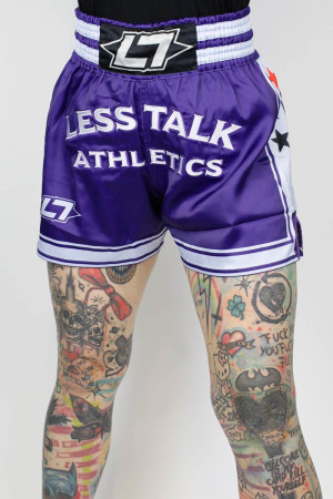 Less Talk Athletics Shorts Muay Thai Navy