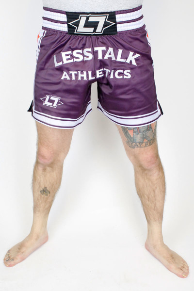 Less Talk Athletics Shorts Muay Thai Aubergine