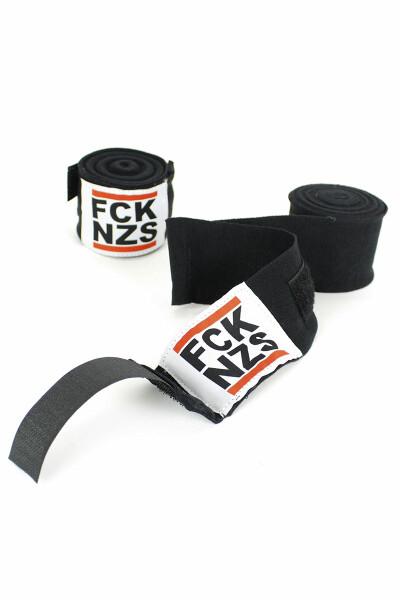Less Talk Handwraps FCK NZS Black 450cm