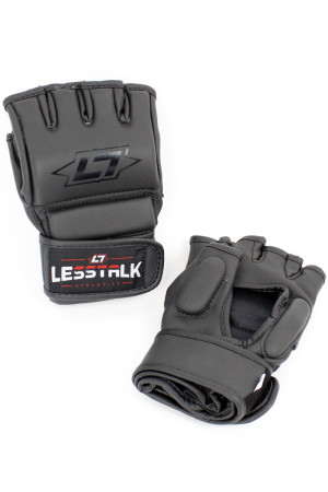 Less Talk Athletics MMA Gloves Vegan Black