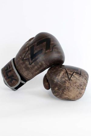 Less Talk Athletics Boxing Gloves Vintage Brown