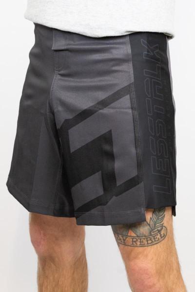 Less Talk Shorts MMA Stealth Black